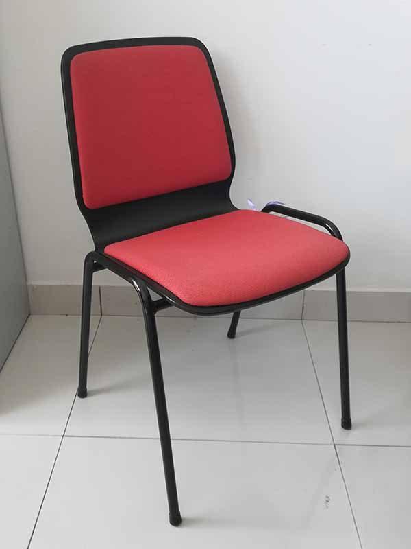 Bezoekersstoel met zwart frame