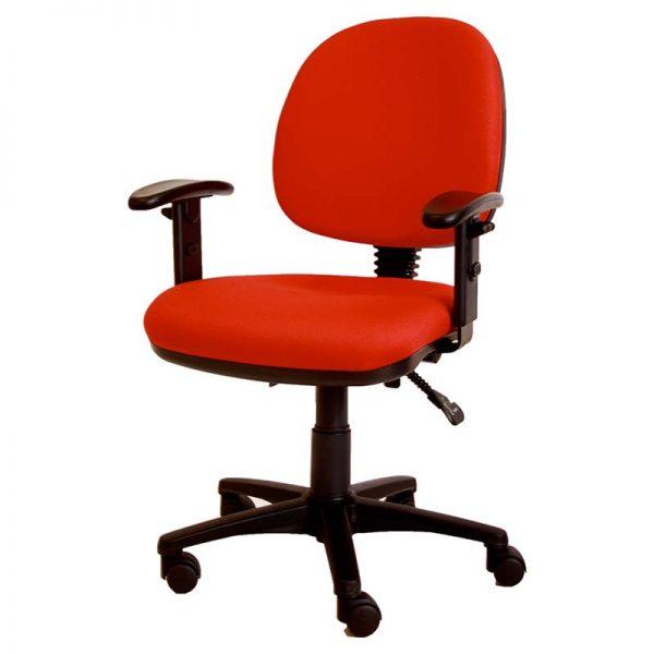 ergonomische bureaustoel in rood