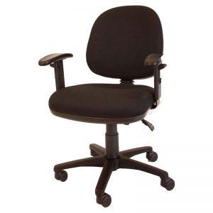 ergonomische bureaustoel in zwart