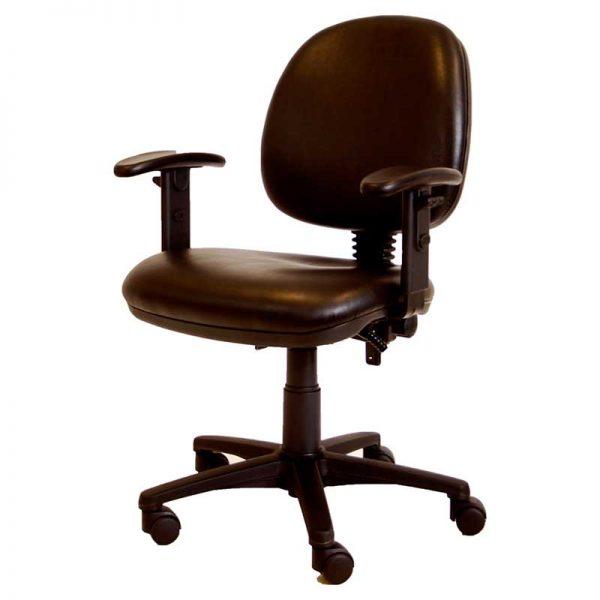 ergonomische bureaustoel in zwart kunstleer