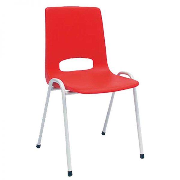 Goedkope rode kunststof stoel
