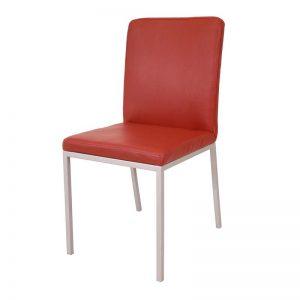 luxe bijzetstoel met strak design in kunstleder