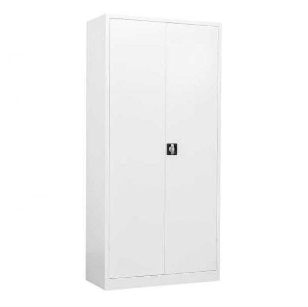 Draaideurkast met slot in wit