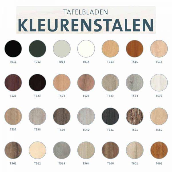 Bureaublad van melamine in diverse kleuren