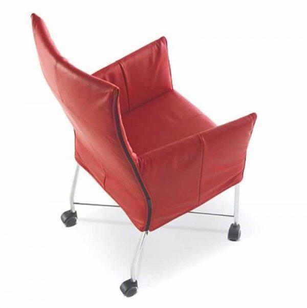 Verrijdbaar stoel in bordeaux