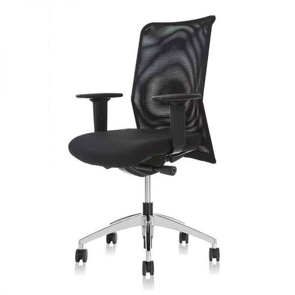 Ergonomische bureaustoel met zwarte netwave rug
