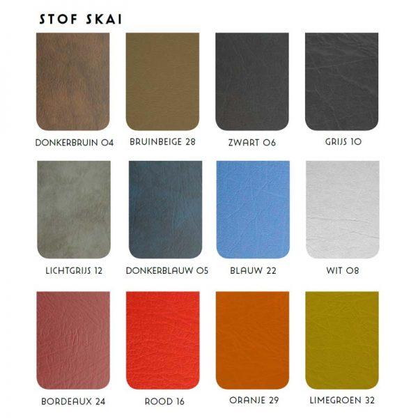 Kleuren van skai / kunstlederen bekleding