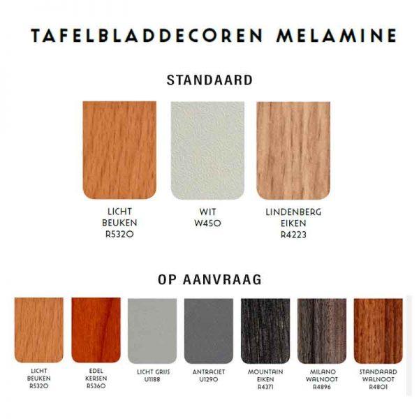 Tafelblad kleuren melamine