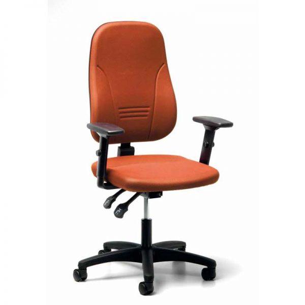 Bureaustoel volgende ergonomische richtlijnen