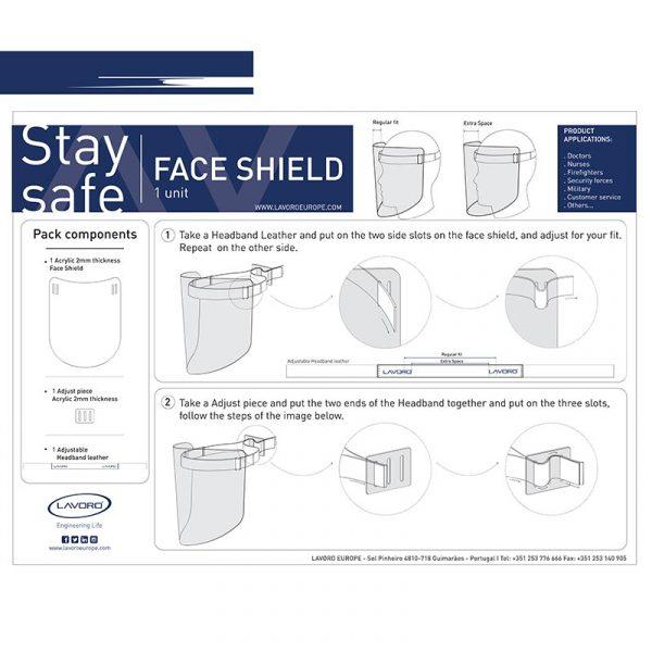 Faceshield gebruikersinstructies