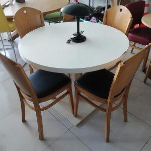 Witte ronde tafel 100cm