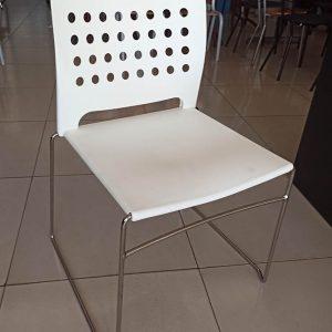 Moderne bezoekersstoel in wit