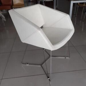 Luxe lederen fauteuil in wit